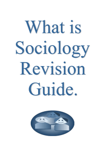 What is Sociology Revision Guide
