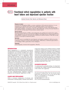 Functional mitral regurgitation in patients with heart failure and
