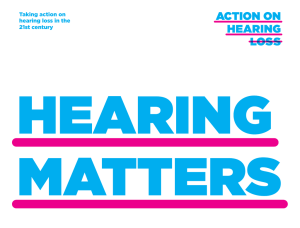 Hearing Matters - Action on Hearing Loss