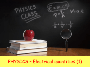 electric current - iGCSE Science Courses