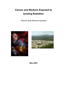 Cancer and Workers Exposed to Ionizing Radiation