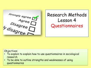 Research Methods Lesson 2 factors influencing