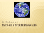 Unit 1 Ch. 3 Intro to env Science