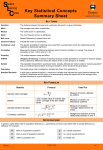 Key Statistical Concepts Summary Sheet
