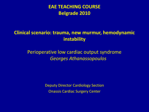 Perioperative low cardiac output syndrome
