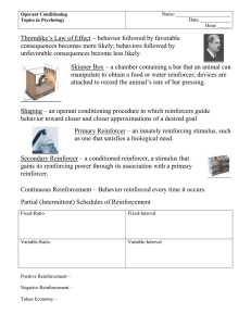 Operant Conditioning Notes (teacher version)