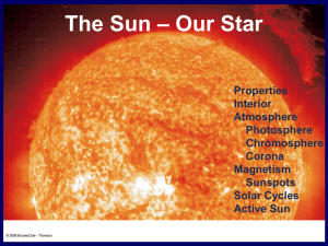 The Sun – Our Star