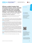 Diffusion-weighted imaging–fluid- attenuated inversion recovery