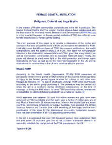 FGM:Religious, Cultural and Legal Myths