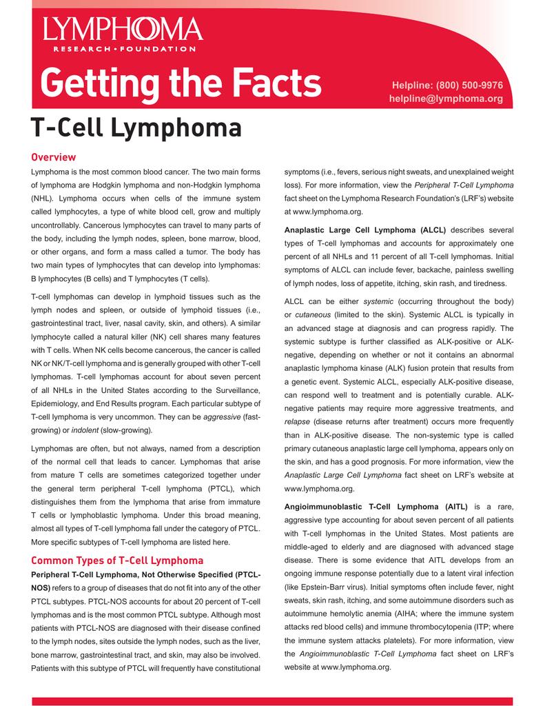 T-Cell Lymphoma - Lymphoma Research Foundation