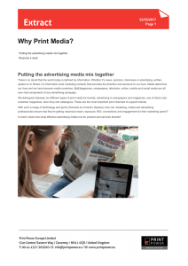 Why Print Media - Print Power Italy