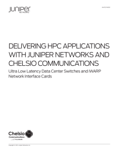 Delivering HPC Applications with Juniper Networks and Chelsio