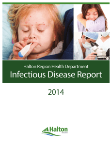 2014 Halton Region Health Department Infectious Disease Report