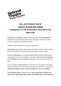 sell-out production of people, places and things