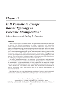 Chapter 12 Is It Possible to Escape Racial Typology in Forensic