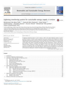 Lightning monitoring system for sustainable energy supply_ A review