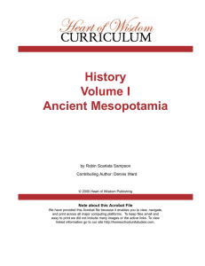 History Volume I Ancient Mesopotamia