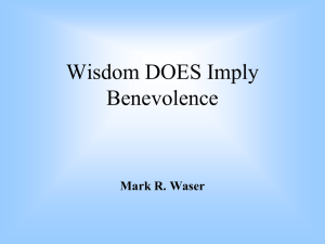 Wisdom DOES Imply Benevolence