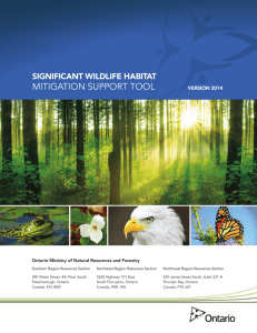 Significant Wildlife Habitat Mitigation Support Tool
