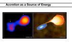 Accretion as a Source of Energy