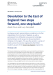 Devolution to the East of England