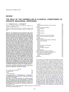 The role of the cerebellum in classical conditioning of