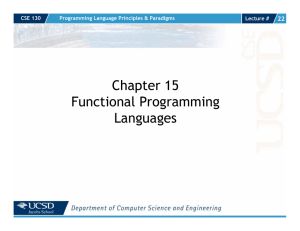 Chapter 15 Functional Programming Languages