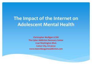 The Impact of the Internet on Adolescent Health