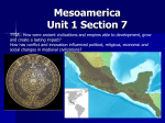 WHPP Unit 1 Section 7 Mesoamerica
