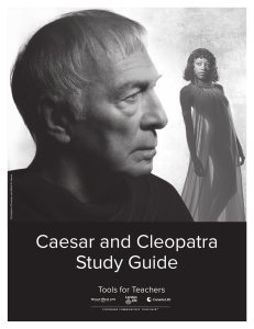 Caesar and Cleopatra Study Guide