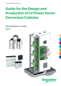 Guide for the Design and Production of LV Power Factor Correction
