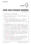 ionic and covalent bonding - Atomic Theory and Periodic Table