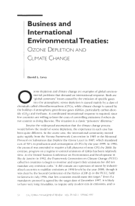 Business and International Environmental Treaties:
