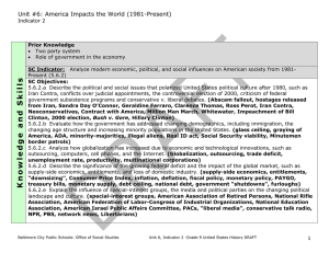 Unit #6: America Impacts the World (1981