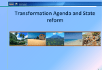 Transformation Agenda and State reform
