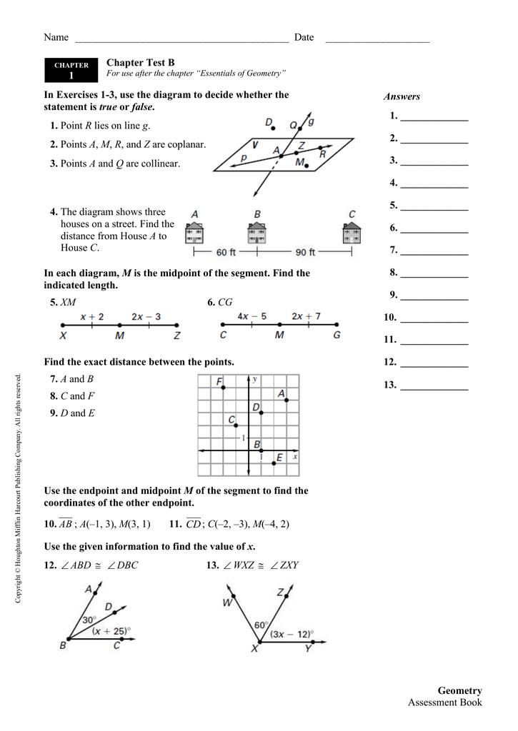 Tests B and C - Doug Lynam`s Geometry