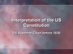 Interpretation of the US Constitution