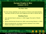 Lesson 23-2: Europe Erupts in War