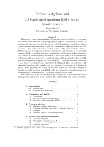 Frobenius algebras and 2D topological quantum field theories (short