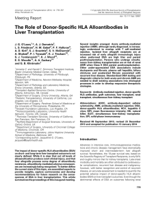 The Role of Donor‐Specific HLA Alloantibodies in Liver