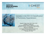 Updates on the WHO Classification of PAH