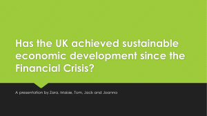5) Has the UK achieved sustainable economic development since