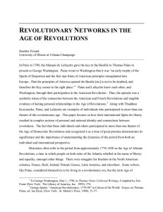 revolutionary networks in the age of revolutions