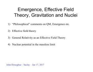 Emergence, Effective Field Theory, Gravitation and Nuclei