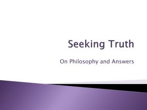 Seeking Truth