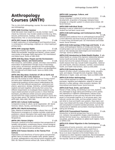 Anthropology Courses (ANTH)