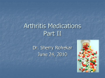 Arthritis Medications Part I