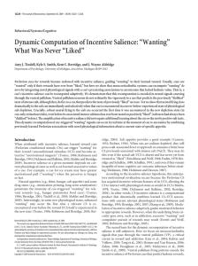 "Dynamic Computation of Incentive Salience: ""Wanting"" What Was"