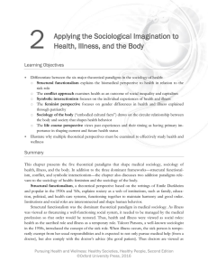2 Applying the Sociological Imagination to Health, Illness, and the