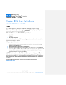 Chapter 4732 X-ray Definitions: Proposed Revisions to 4732.0110